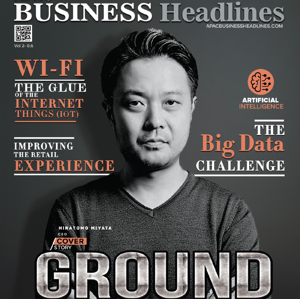 「APAC BUSINESS Headlines」にてGROUNDが「10 Fastest Growing AI Solution Provider」に選ばれ、代表の宮田が表紙を飾りました